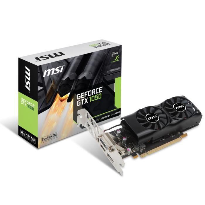 MSI Carte graphique GeForce® GTX 1050 2GT LP - 2Go - GDDR5