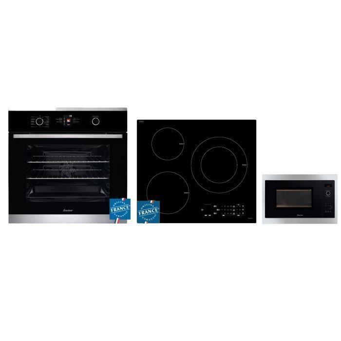 SAUTER Four à chaleur tournante - 60 L + Plaque induction - 7200W + Micro-ondes encastrable - 26 L