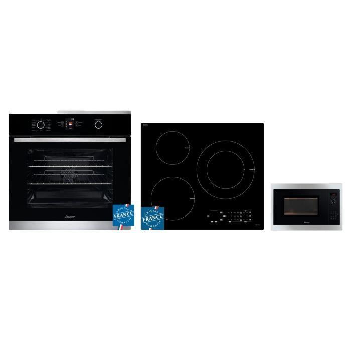 SAUTER Four électrique - 65 L + Plaque induction - 3 zones + Micro-ondes - 900W