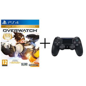 Pack Overwatch Goty Edition Jeu PS4 + Manette PS4 DualShock 4 Noire