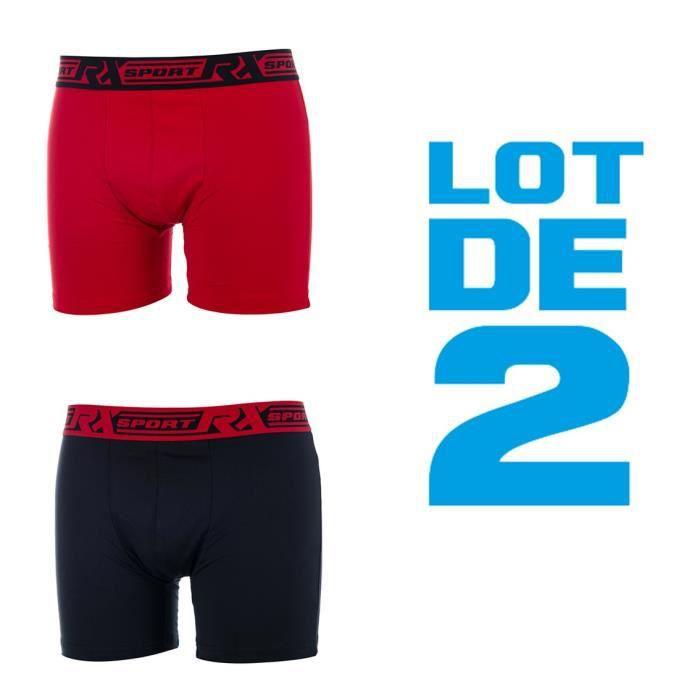 RXSPORTS Boxers Homme Uni - Rouge / Noir