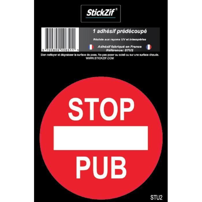 STOP PUB Adhésif pré-découpé - Ø 7 cm - Résistant