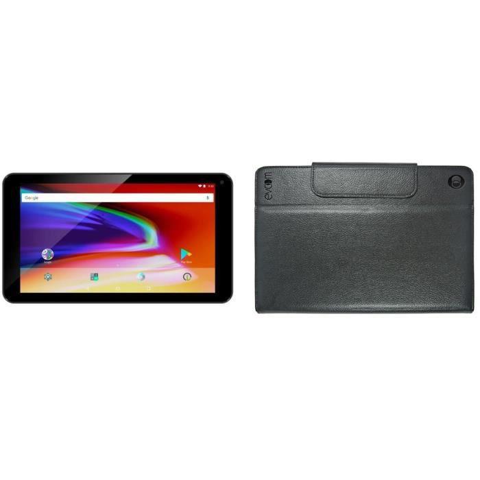 LOGICOM Tablette tactile - 7'' 1024 x 600 - RAM 1 Go - Quad Core - Android 7.1 - Stockage 8 Go + Etui 7'' - Noir