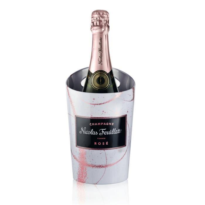 Champagne nicolas feuillatte rosé etui seau terre de merveille