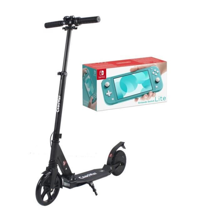 Pack nintendo switch lite turquoise crosway trottinette assistance électrique 8 150w pliable noir