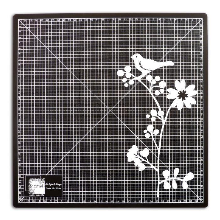 MAHE Tapis de découpe - 35x35cm - noir