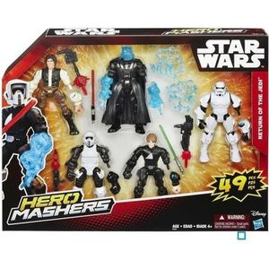 STAR WARS Hero Mashers Multi Pack 5 figurines et accessoires