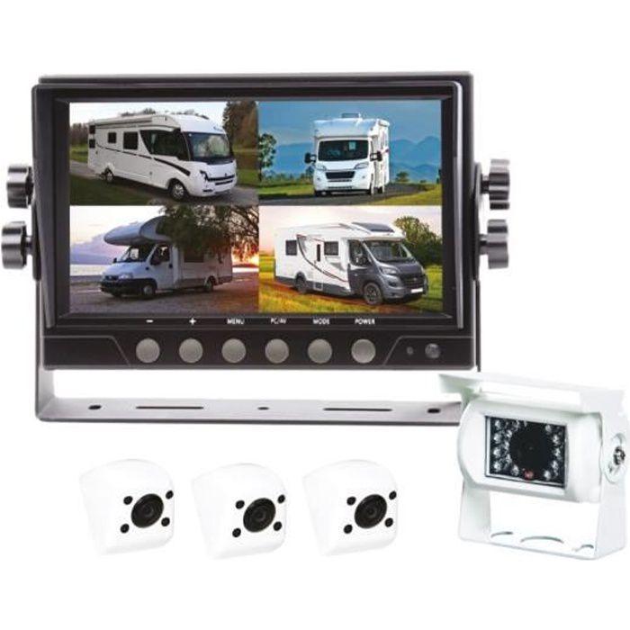 BEEPER Lot de 4 Caméras de recul avec écran LCD 7'' - Angle 140° / 170°