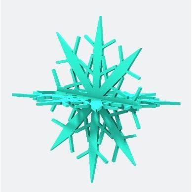 Suspension Le Flocon de neige personnalisée