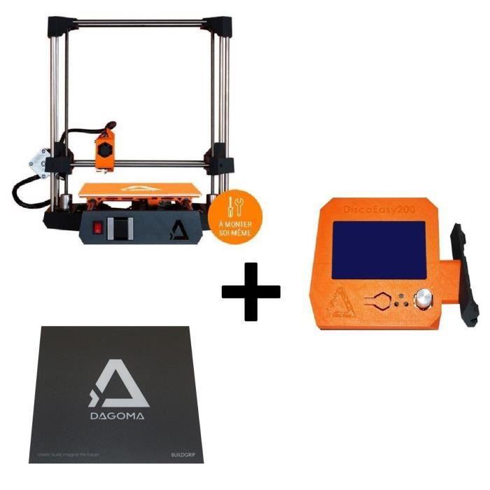 Pack DAGOMA Imprimante 3D DISCŒASY200 en Kit + Écran DAGOMA + Buildgrip DAGOMA