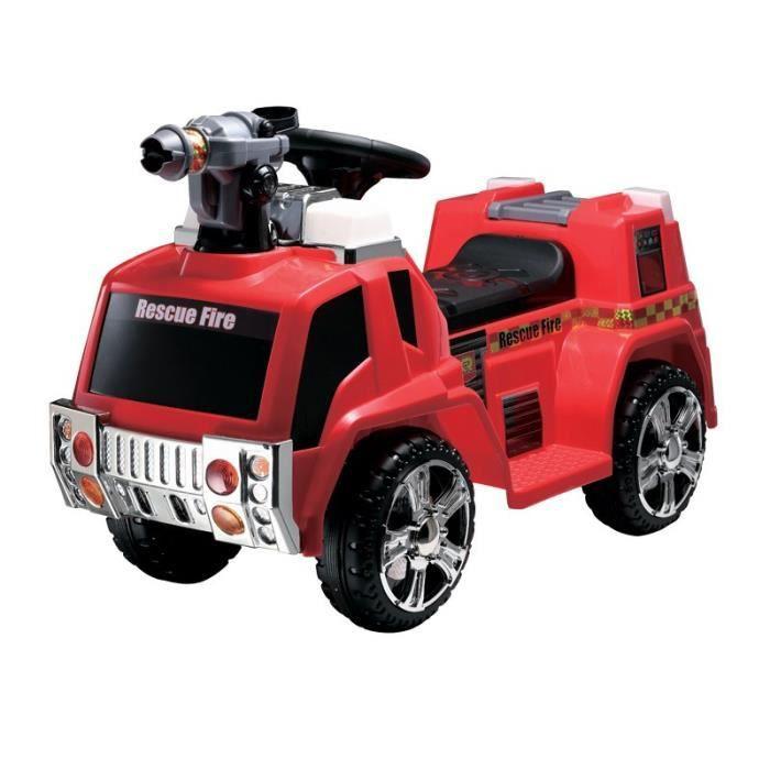 E-ROAD Voiture Electrique Enfant Camion de pompier - Batterie 12V - Rouge