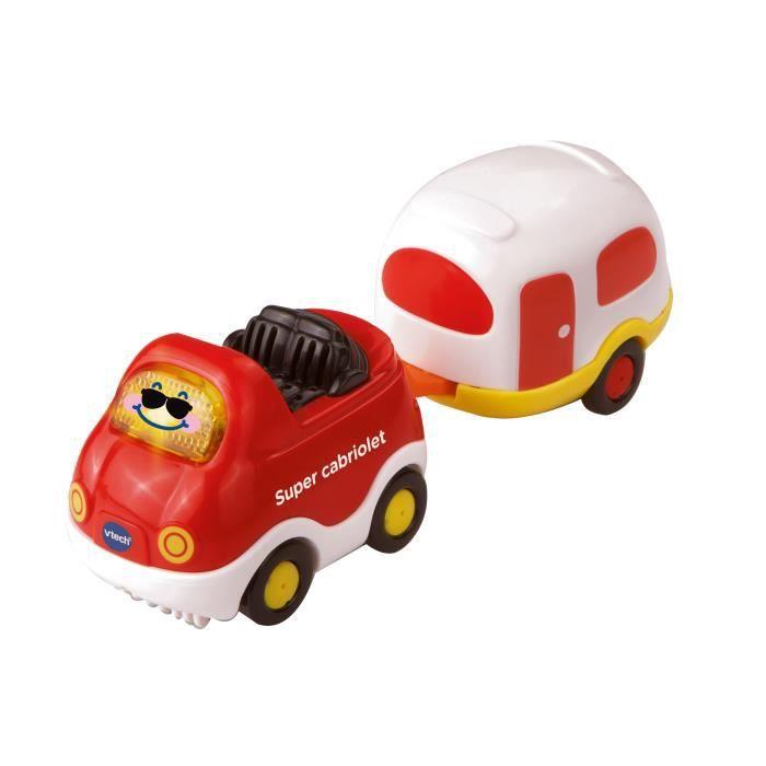 VTECH - Tut Tut Bolides - Véhicule avec Remorque - Timothée Super Cabriolet et sa Caravane