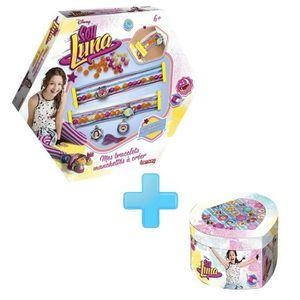 SOY LUNA Pack Bijoux - Mes Bracelets Manchettes ? Créer + Boîte Cœoeur 22 Bagues