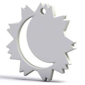 Pendentif Le Soleil et la Lune personnalisé