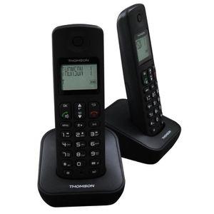 Thomson Téléphone DECT Duo Répondeur Noir