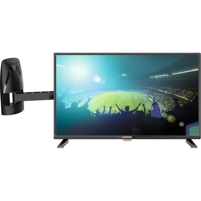 Oceanic tv led hd 80cm 31.5 hd 3 ports hdmi 1.4 1 port usb 2.0 pvr ready meliconi mb200 motion support mural