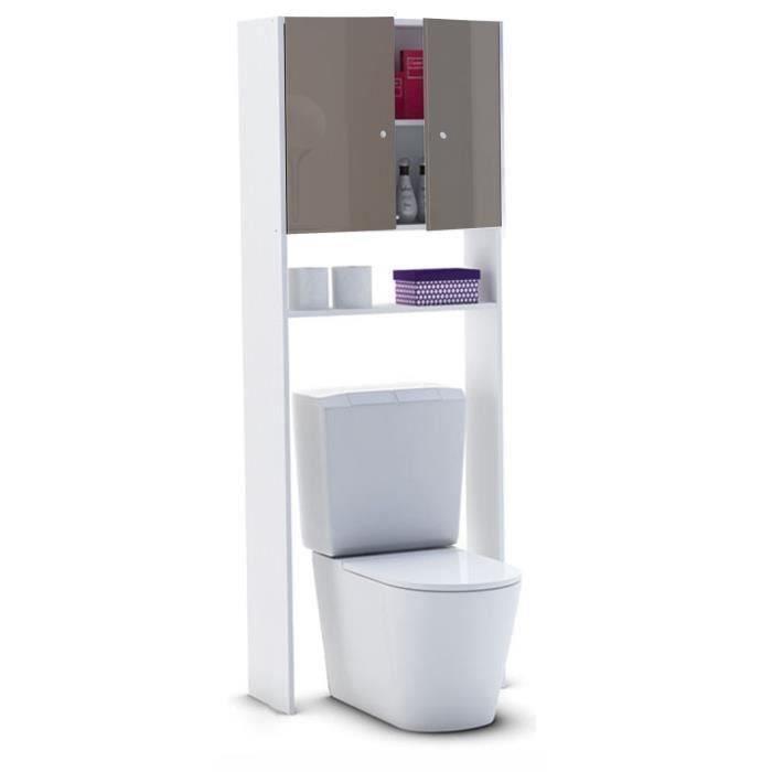 La colonne sur-WC ou machine à laver CORAIL est issue d'une fabrication française. Elle est dotée de rangements permettant d'optimiser l'espace. Livrée en kit comprenant 1 caisson mélaminé blanc, les façades haute brillance, les charnières et les poignées