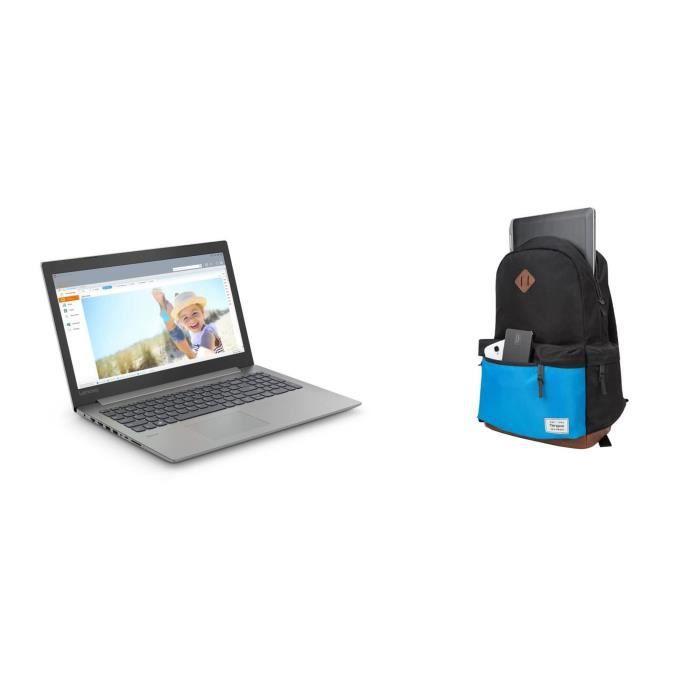 Lenovo pc portable ideapad 330 15ikb 156 fhd 4go core i5 8250u 1to hdd 128go ssd mx150 targus sac à dos strata