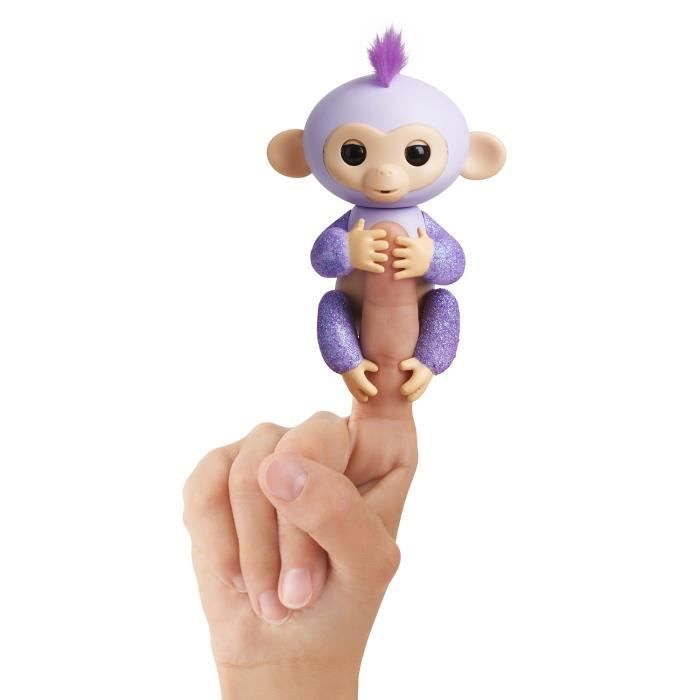 WOW WEE Fingerlings bébé singe pailleté - Garçon et Fille - A partir de 5 ans - Livré à l'unitéROBOT MINIATURE - PERSONNAGE MINIATURE - ANIMAL ANIME MINIATURE
