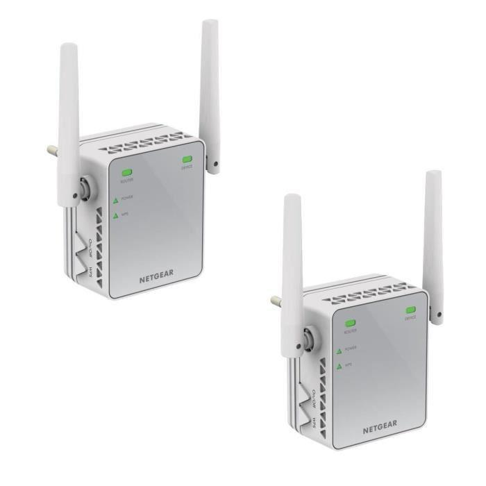 NETGEAR Lot de 2 répéteurs WiFi 300 Mbps