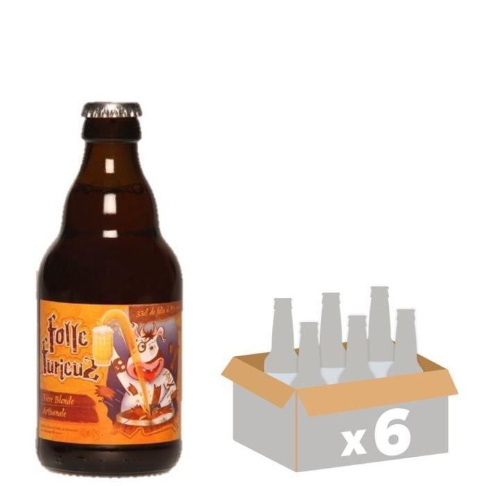 DE SUTTER - Folle Furieuz - Bière Ambrée Triple - 6x 33 cl - 9 % - Fabriquée en FranceBIERE