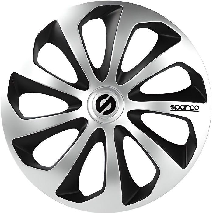 SPARCO 4 Enjoliveurs de roues - Sicilia - SPC1673SVBK - 16\