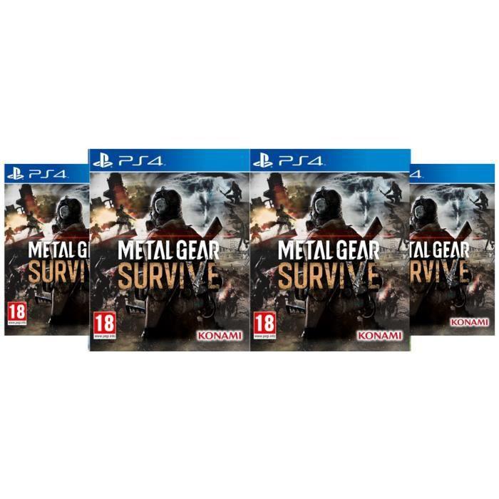 Pack 4 Jeux Metal Gear Survive sur PS4