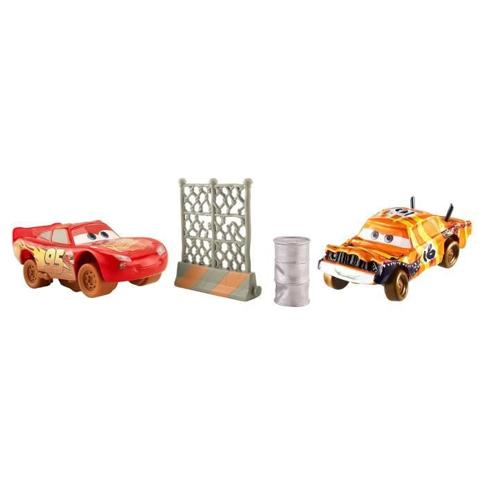 CARS 3 - Super-Huit Pack De 2 Véhicules Pushover & Flash McQueen