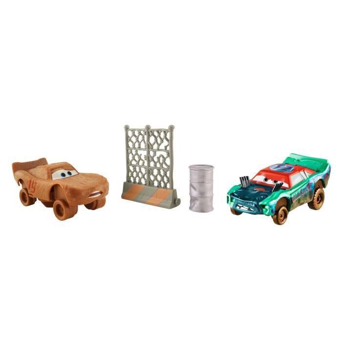 CARS 3 - Super-Huit Pack De 2 Véhicules Fishtail & Flash McQueen Dans Le Role De Chester Whipplefilter