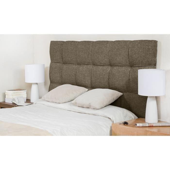 FINLANDEK Tête de lit KYNA classique - Tissu marron clair - L 140 cm