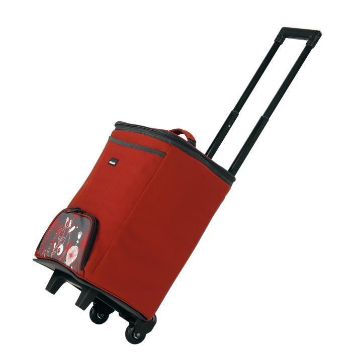 TRIGANO Glacière valise 2 roues - 25 L