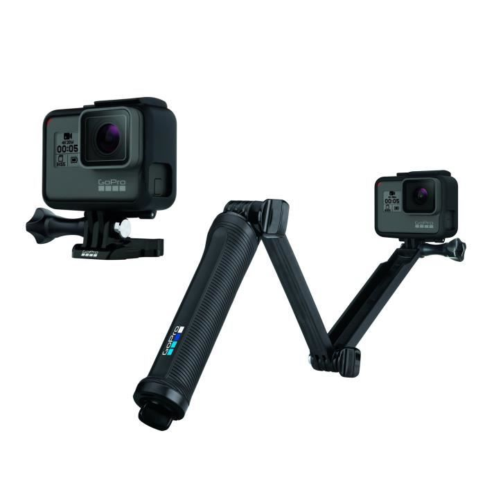 Pack GOPRO HERO 5 Black Caméra de sport + GOPRO AFAEM-001 3-WAY Fixation 3 en 1 - Poignée - Bras - Trépied