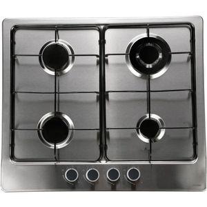 HAIER HHX-M64WE3 - Table de cuisson Gaz - 4 Foyers - 3500 W - L 50 X P 50 cm - Rev?tement Inox