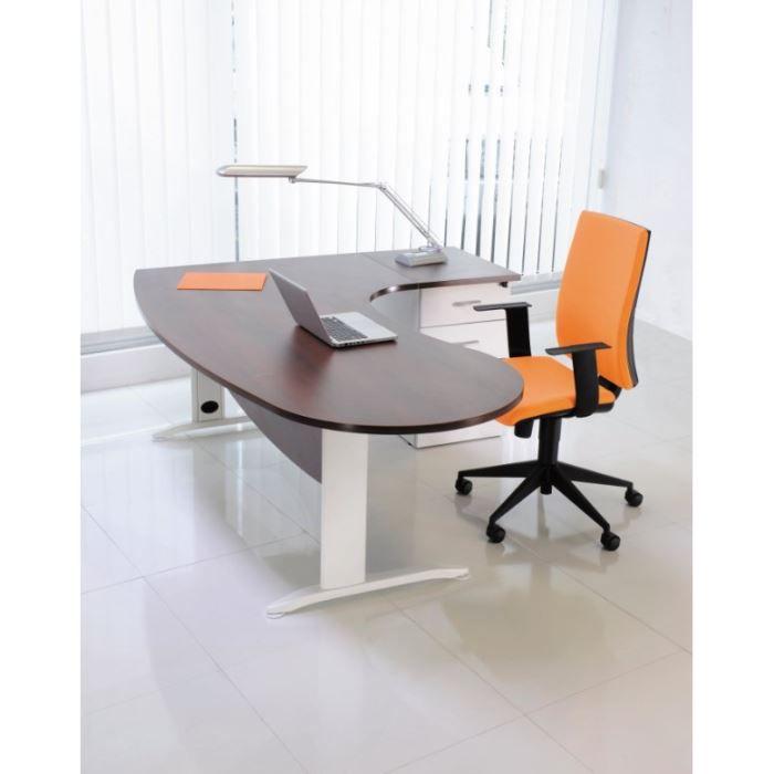 Bureau Idra Manager rtr 90° droite Wengé/Blanc