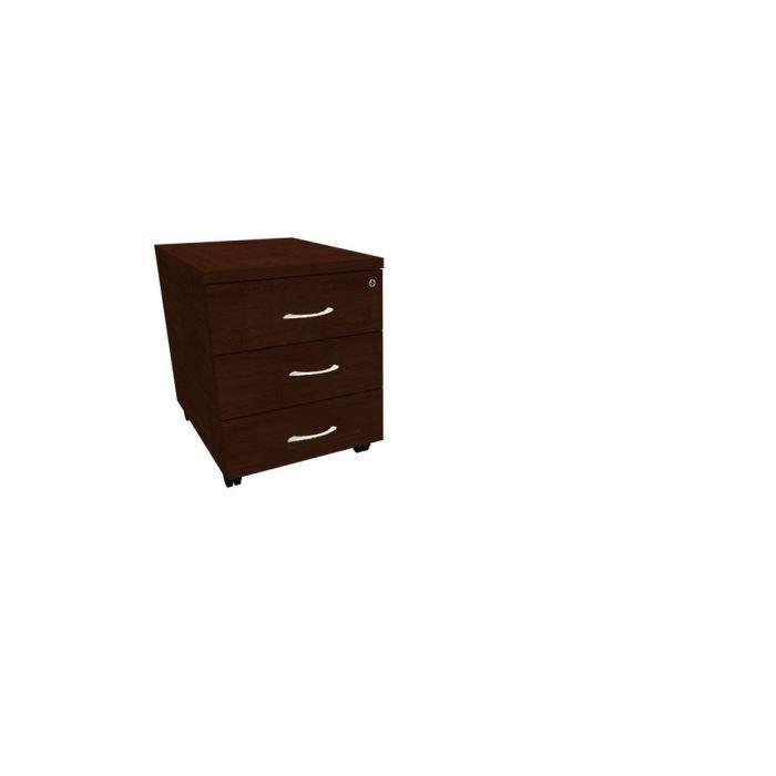 Caisson mobile 3 tiroirs plats Wengé