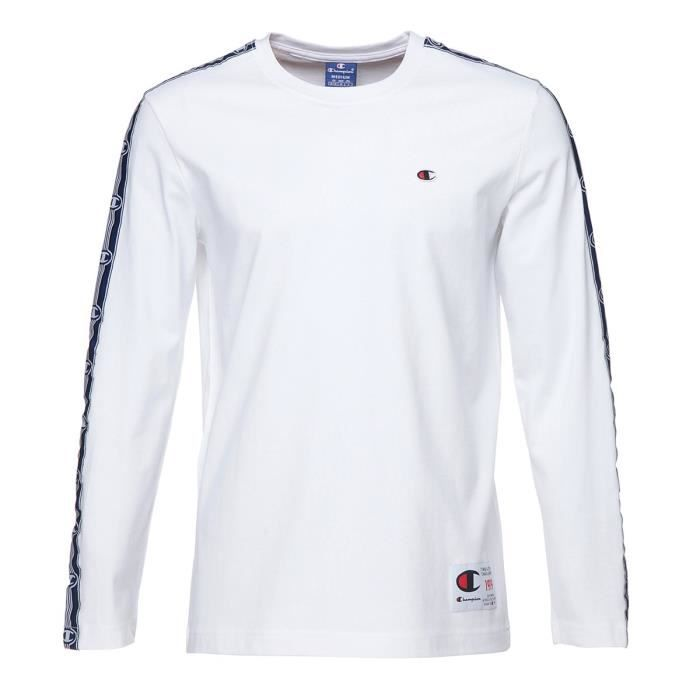 CHAMPION T-shirt manches longues - Homme - Blanc