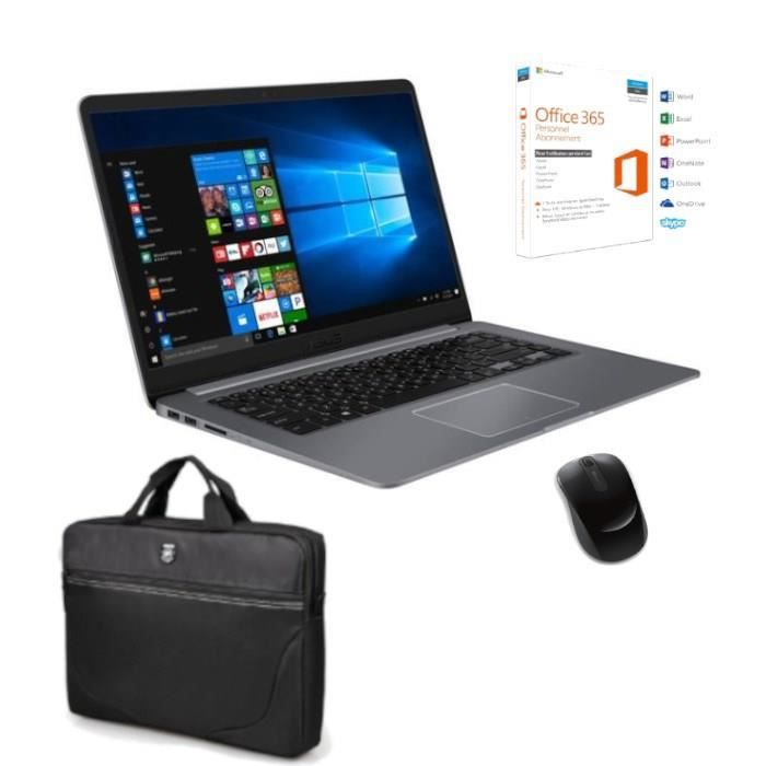 Pack PC Portable Vivobook R520UA-BR580T - 15,6'' - Core i5 - 4Go RAM - 1To - Win 10 + Sacoche + Office 365 Perso + Souris offerts