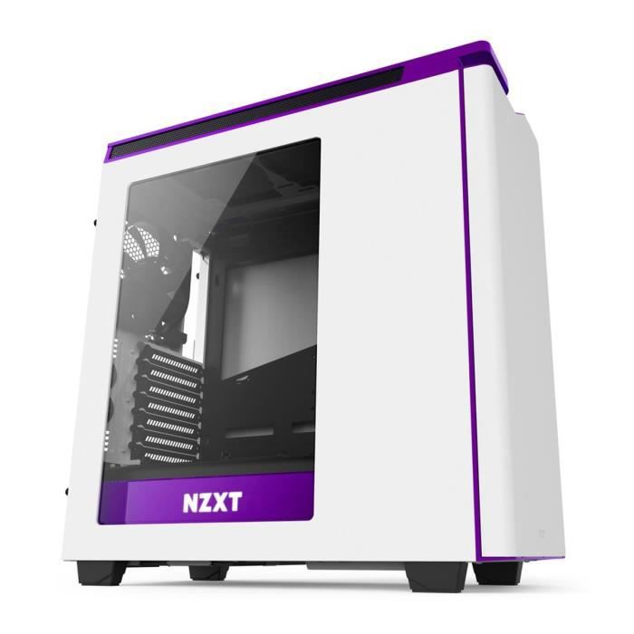NZXT Boîtier PC H440 Moyen tour - Blanc et violet