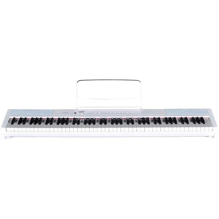 Piano Portable 88 Touches blanc