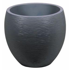 EDA Pot rond Graphit ?50cm - Contenance 46L - Gris anthracite