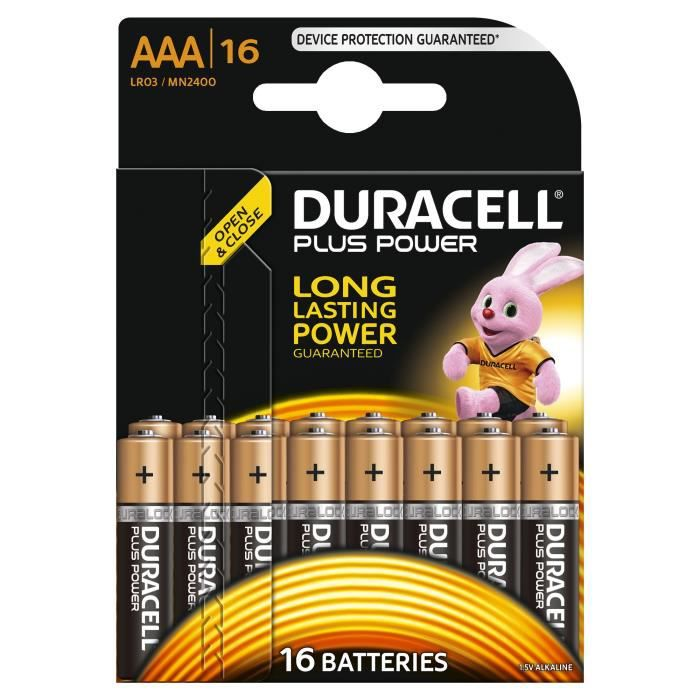 DURACELL Piles Alcaline Power Plus - AAA
