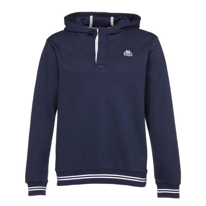KAPPA Sweat-shirt Laurus - Homme - Bleu marine