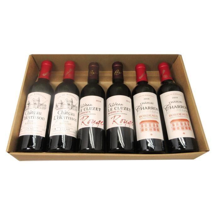 Coffret Les Demies - Chateau Gabaron 2015 AOC - Vin de Bordeaux - Rouge - 6x37,5cl