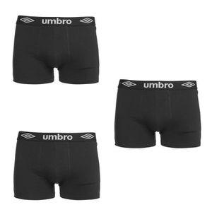 UMBRO Lot de 3 Boxers Homme - Noir
