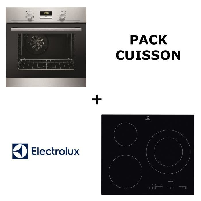 ELECTROLUX - Pack cuisson : Four multifonction pyrolyse + Table de cuisson induction