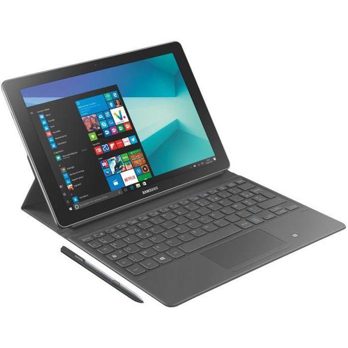 SAMSUNG 2 en 1 Galaxy Book - 10,6 pouces FHD+ - RAM 4Go - Intel Core m3 - Windows 10 Famille - Stockage 64Go + Book Cover et S Pen