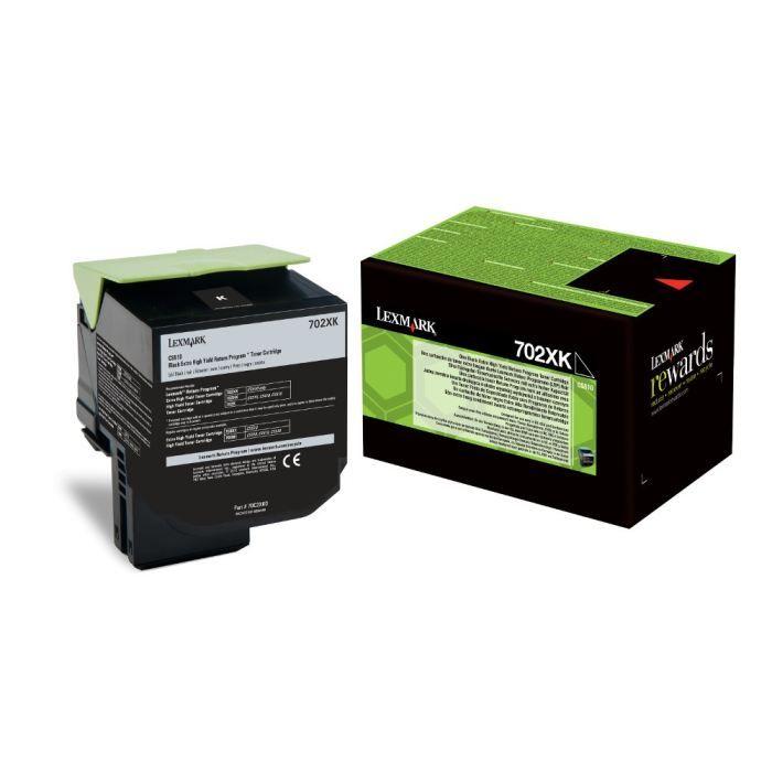 LEXMARK - 1 Cartouche de toner 702XK - Capacité standard 8 000 pages