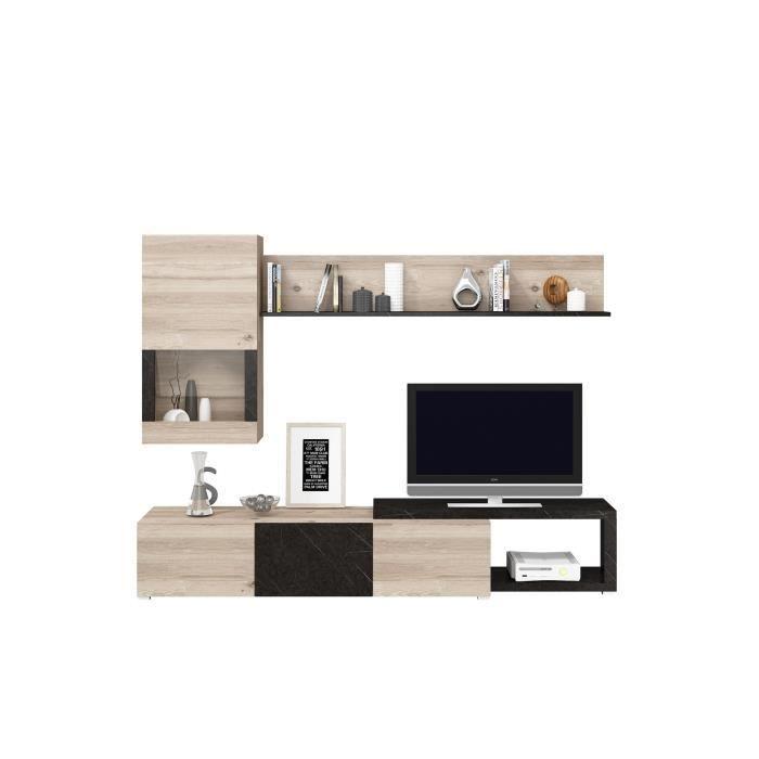 two meuble tv contemporain m lamin d cor nelson et pierre l 240 cm. Black Bedroom Furniture Sets. Home Design Ideas