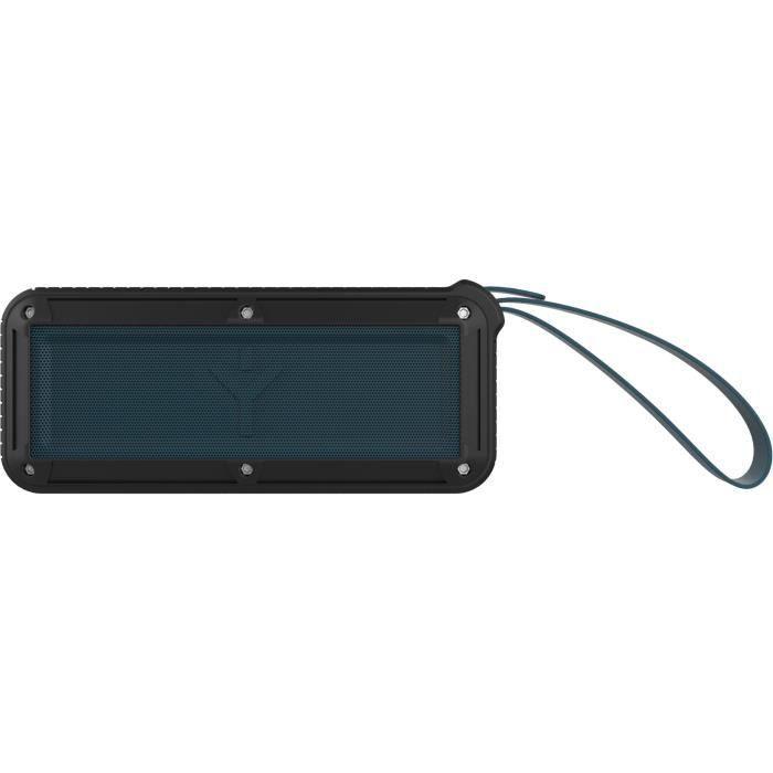 Enceinte nomade Bluetooth - Autonomie : 11h - Durée de rechargement : 3 h - Resistante à l'eau (IPX5) - Micro intégréENCEINTE NOMADE - HAUT-PARLEUR NOMADE - ENCEINTE PORTABLE - ENCEINTE MOBILE - ENCEINTE BLUETOOTH - HAUT-PARLEUR BLUETOOTH