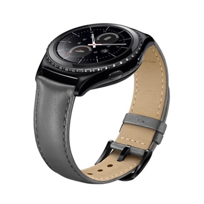 Samsung Bracelet pour Gear S2 Cuir Gris